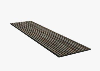 Muurdecoratie Woodupp Akupanel Grijs Oxide 600x2400 mm